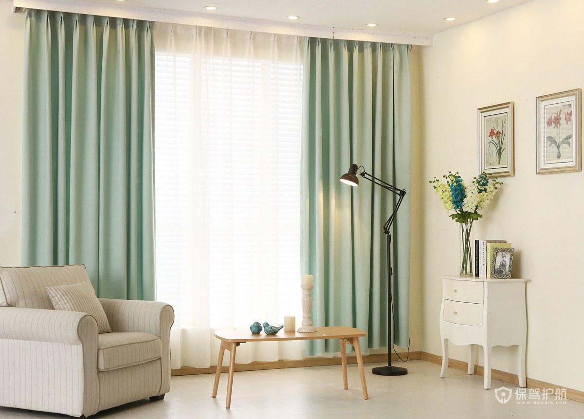 简约风小户型客厅窗帘装修效果图