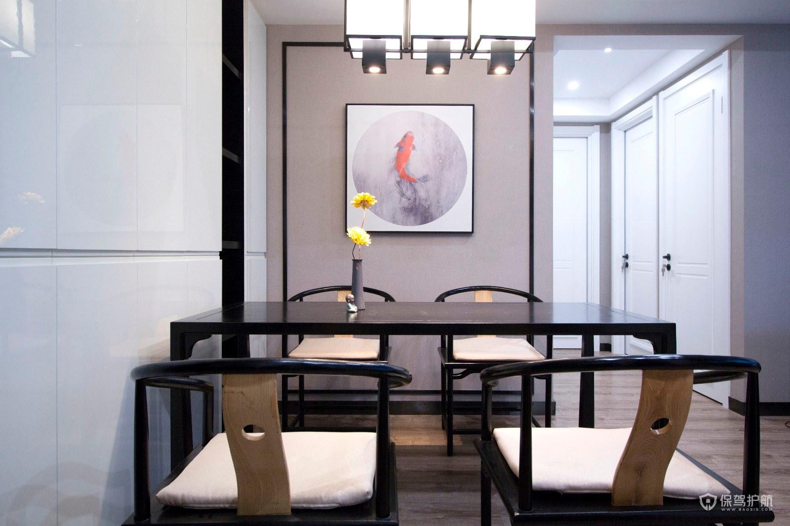 简约新中式风三居室餐厅装修效果图