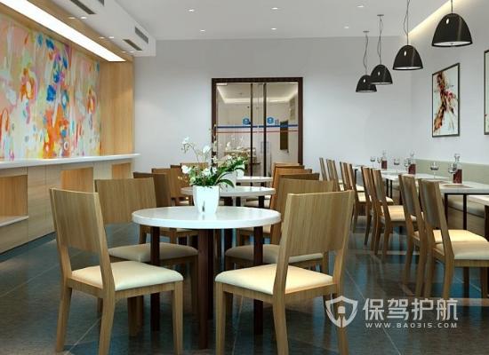 75平米简约风格酒店小餐厅装修效果图…