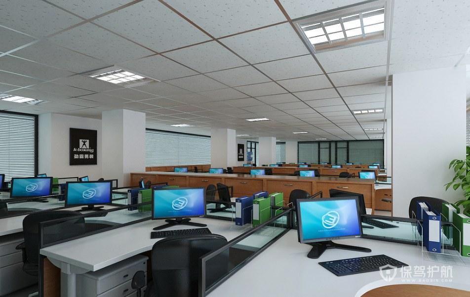 現代簡約辦公大廳裝修效果圖