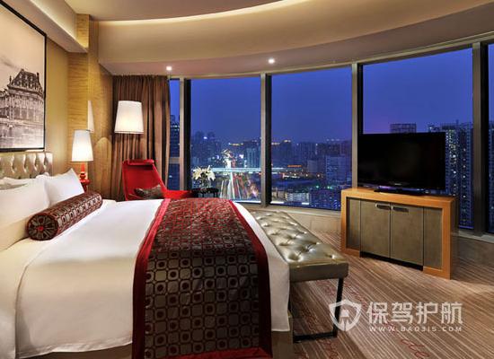 45平米法式风格酒店客房装修效果图