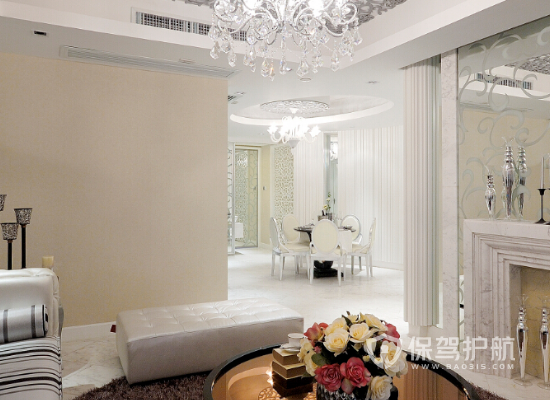 121平米现代简约风格酒店客厅装修效…
