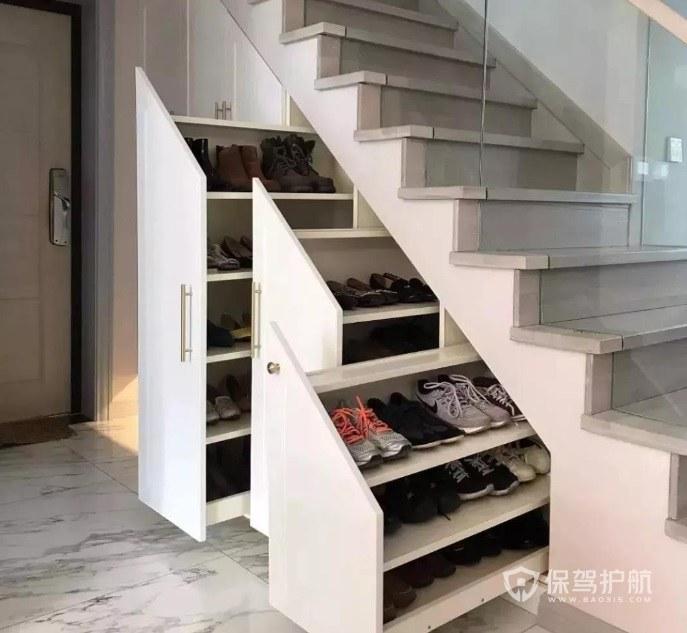 楼梯下鞋柜如何设计? 楼梯下可以如何灵活运用?