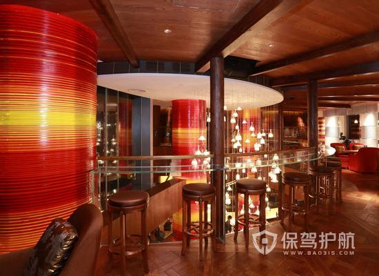 130平米简约风格酒吧装修效果图