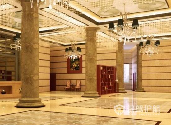 430平米欧式风格酒店大堂装修效果图…