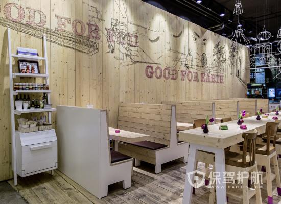 79平米简约风格奶茶店装修实景图