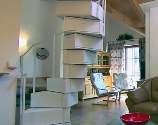 这样的楼梯你见过吗 智能楼梯还可收纳