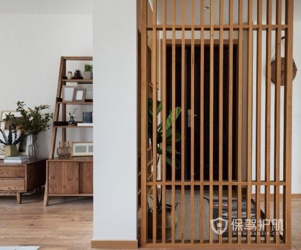实木材质的玄关隔断有哪些?实木玄关隔断效果图