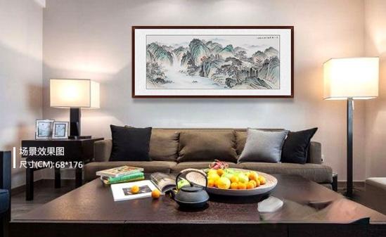 关于新中式沙发背景墙挂画,这才是正确的挑选方法