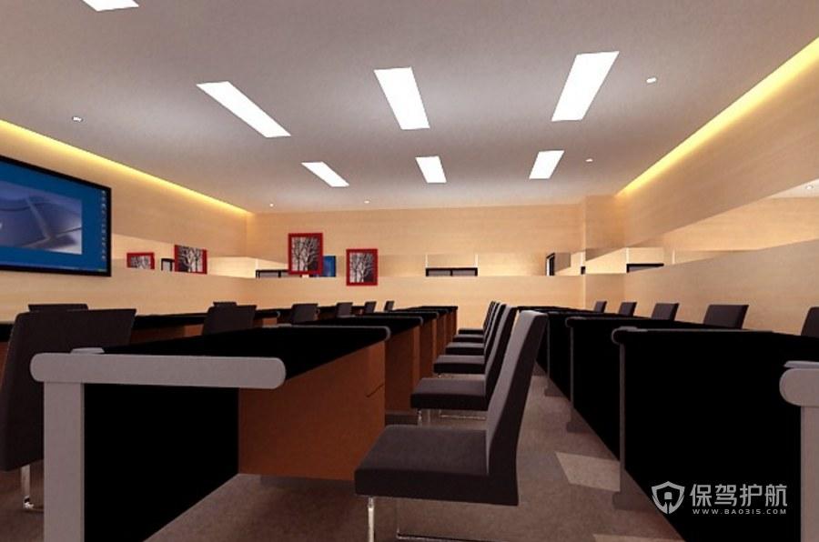 现代风格公司多媒体会议室装修效果图…