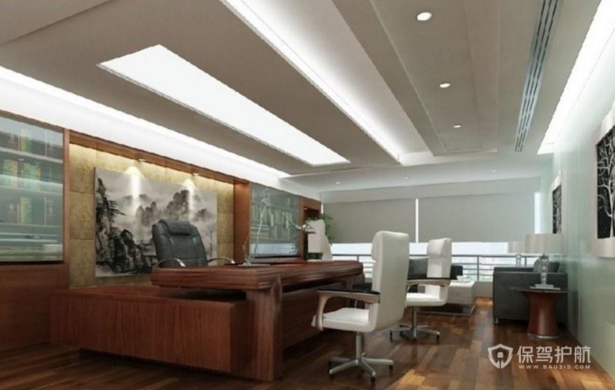 现代中式领导办公室装修效果图