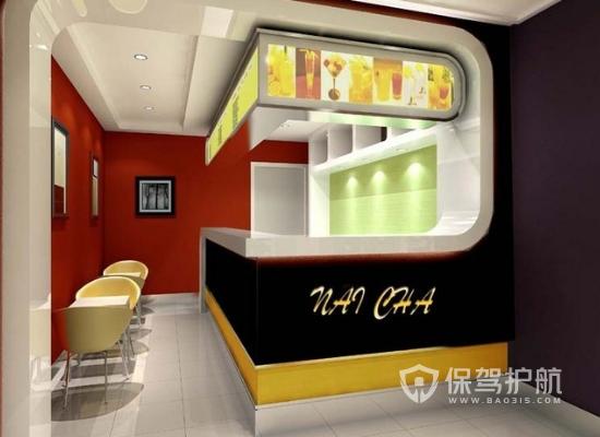 15平米现代风格奶茶店装修效果图
