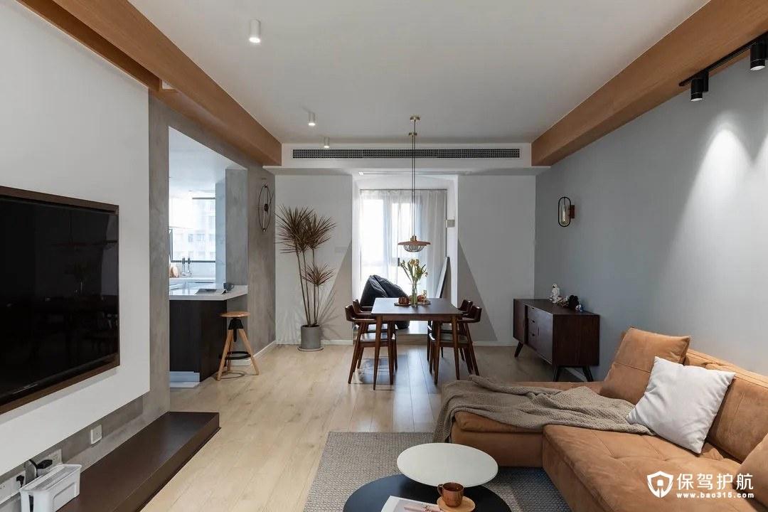 西悦城简约北欧风格二居室装修效果图