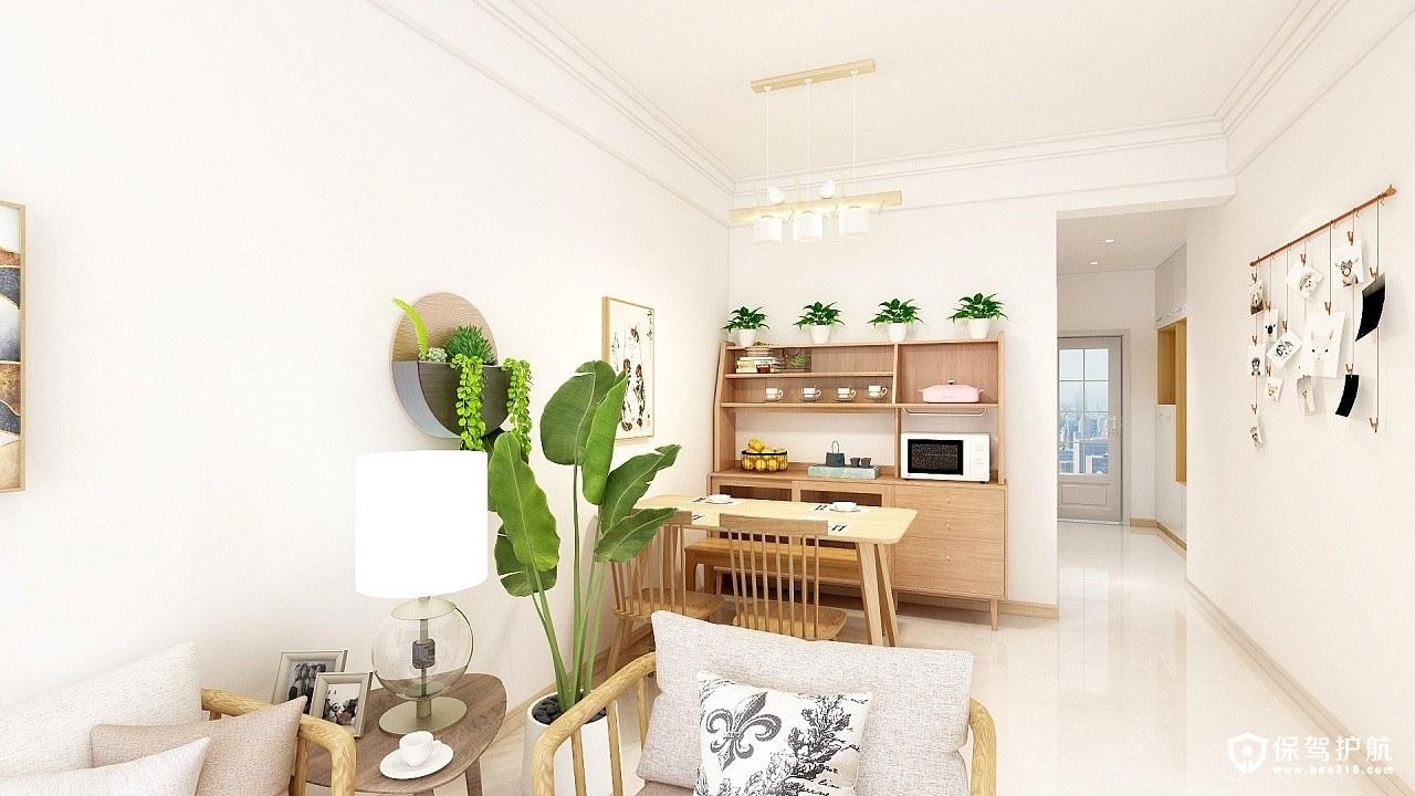 汇乐园日式风格三居室装修效果图