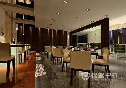90平米美式风格饭店装修效果图