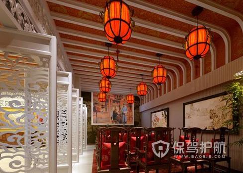 126平米中式风格饭店装修效果图