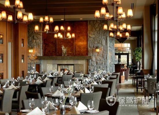 156平米美式风格饭店装修实景图