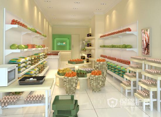 31平米简约风格水果店装修效果图