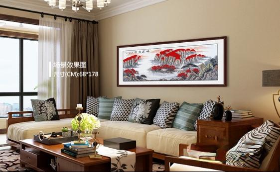 这5种中式沙发背景墙装饰画,唤起你内心的中式情结