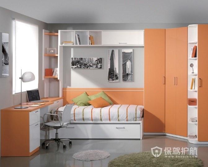 小清新宜家风儿童房创意衣柜装修效果图