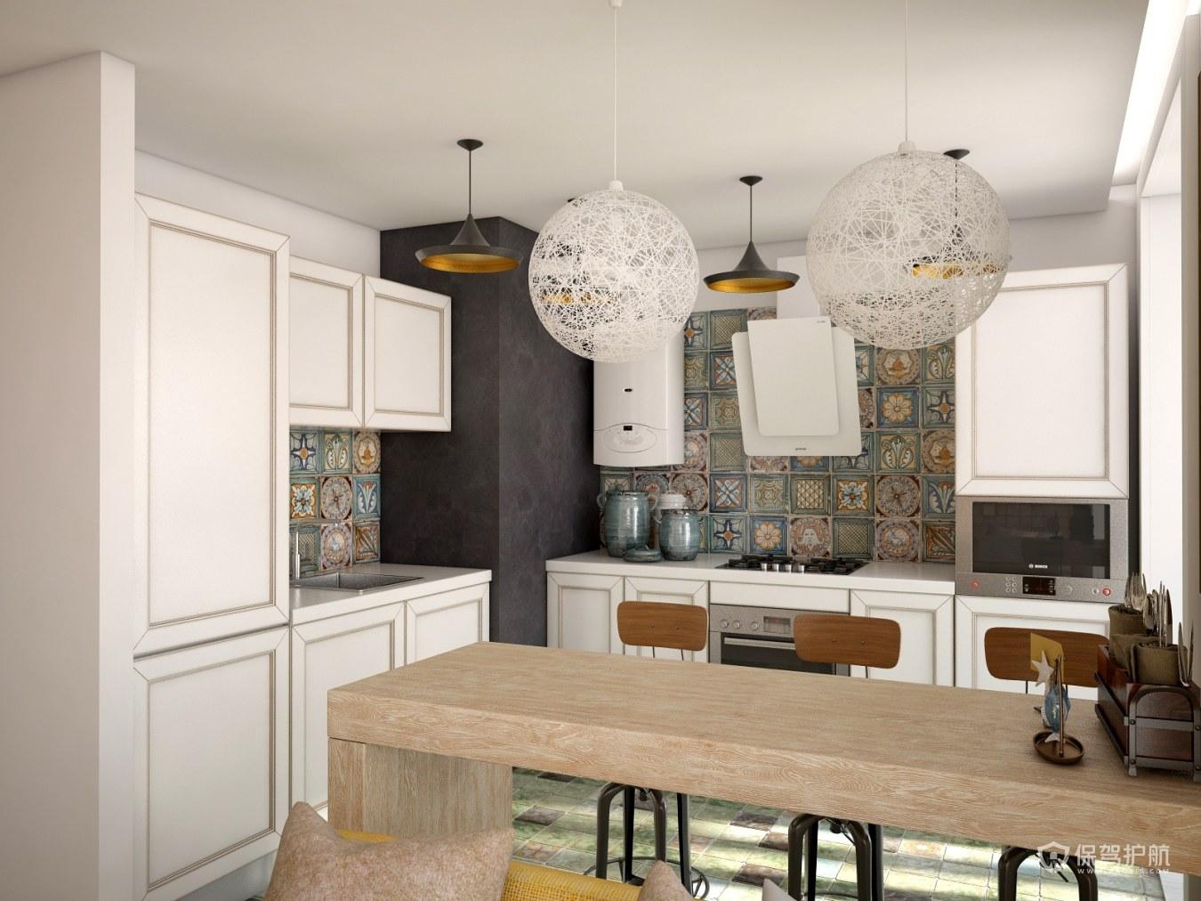 美式风二居室厨房装修效果图