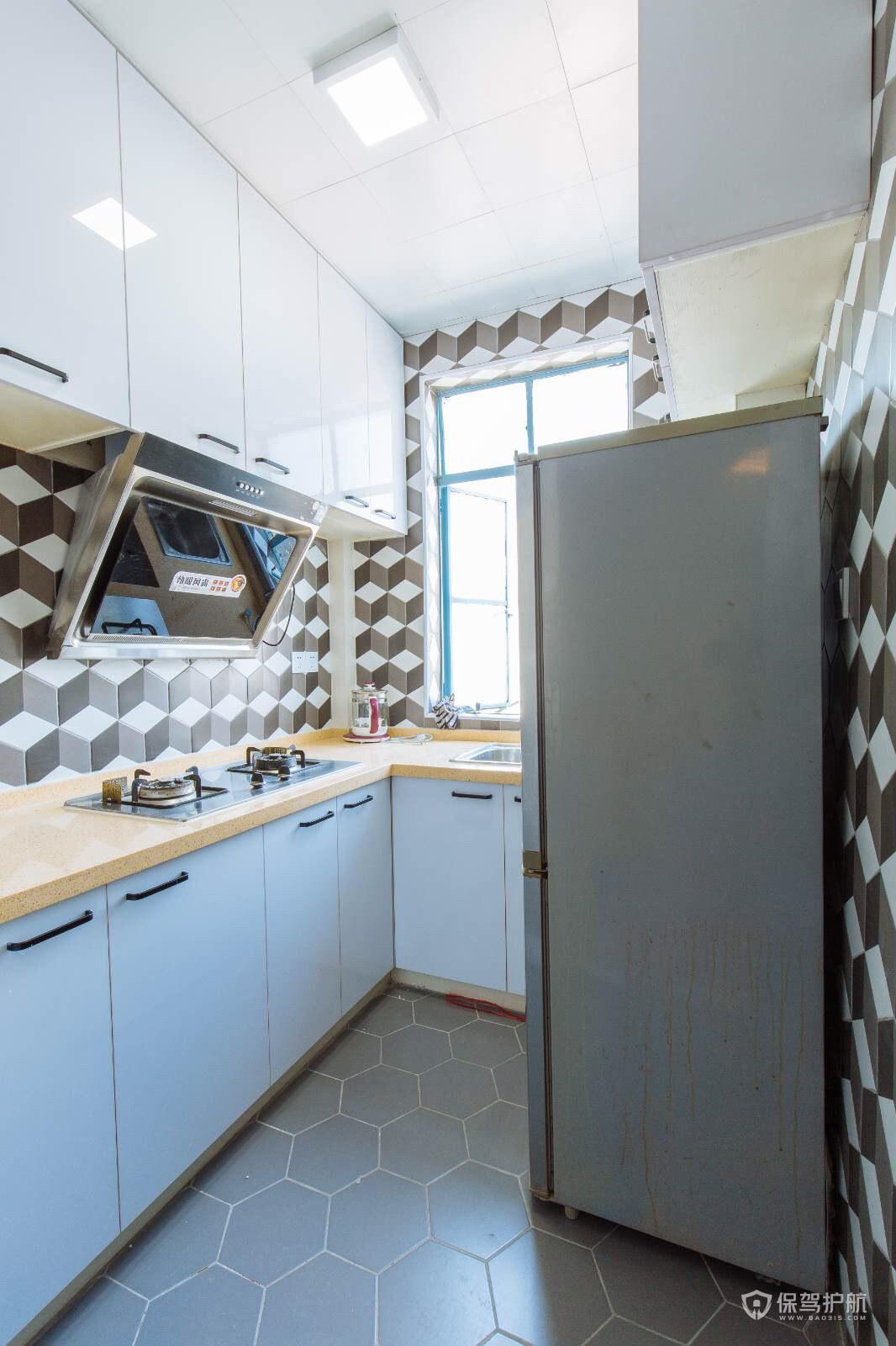 60平北欧风小户型厨房装修效果图