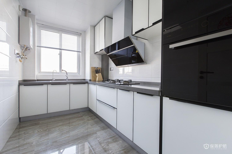 简约风二居室白色厨房装修效果图
