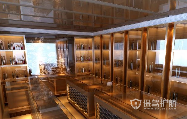 25平米现代风格烟酒店装修效果图