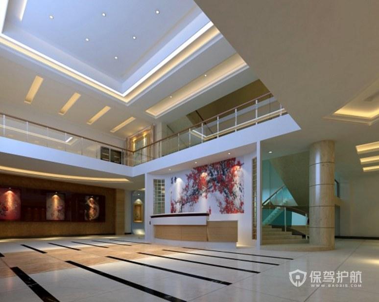 新中式风格办公室门厅装修效果图