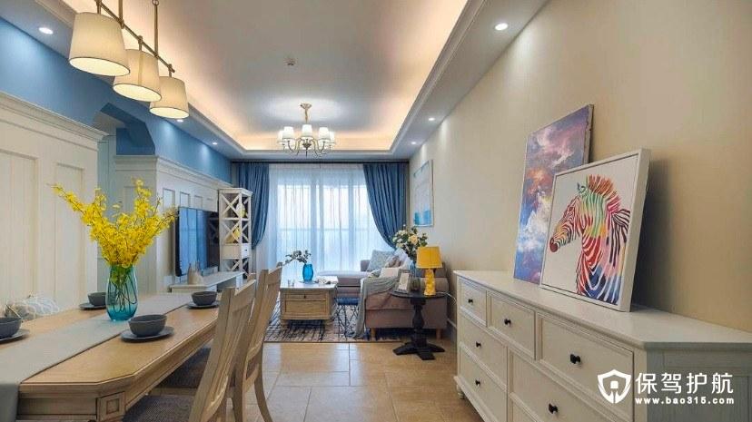 汇轩园花园小区124m²现代风格三居室装修效果图