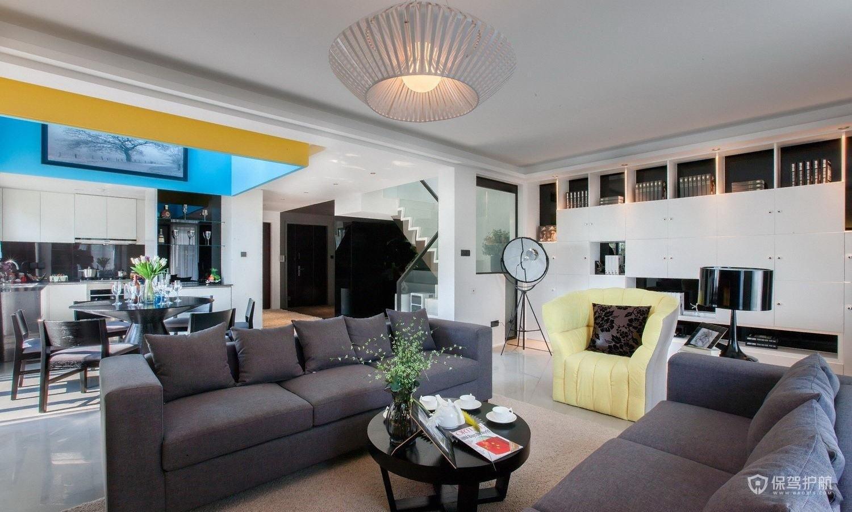 现代风格复式公寓客厅装修效果图