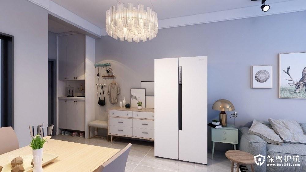 四季花城89平米北欧风格二居室装修效果图