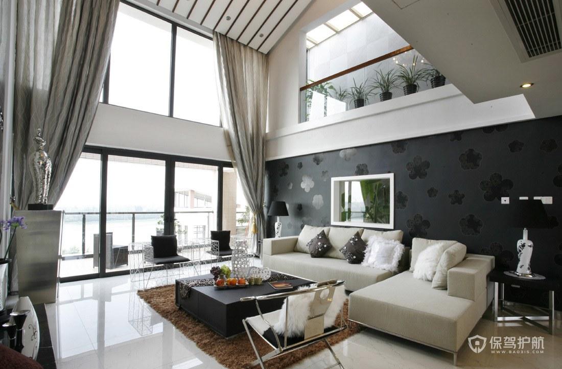现代风格海景别墅客厅装修效果图
