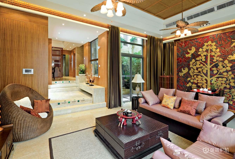 东南亚风别墅客厅装修效果图