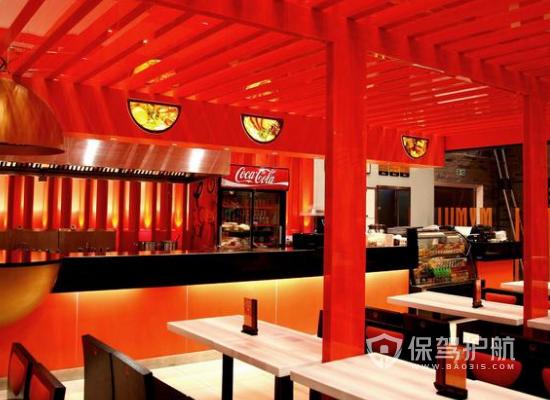 106平米现代风格快餐店装修效果图