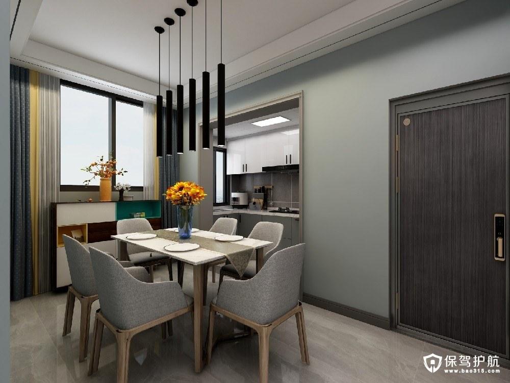上海城101平方温馨简约风小居所二居室装修效果图