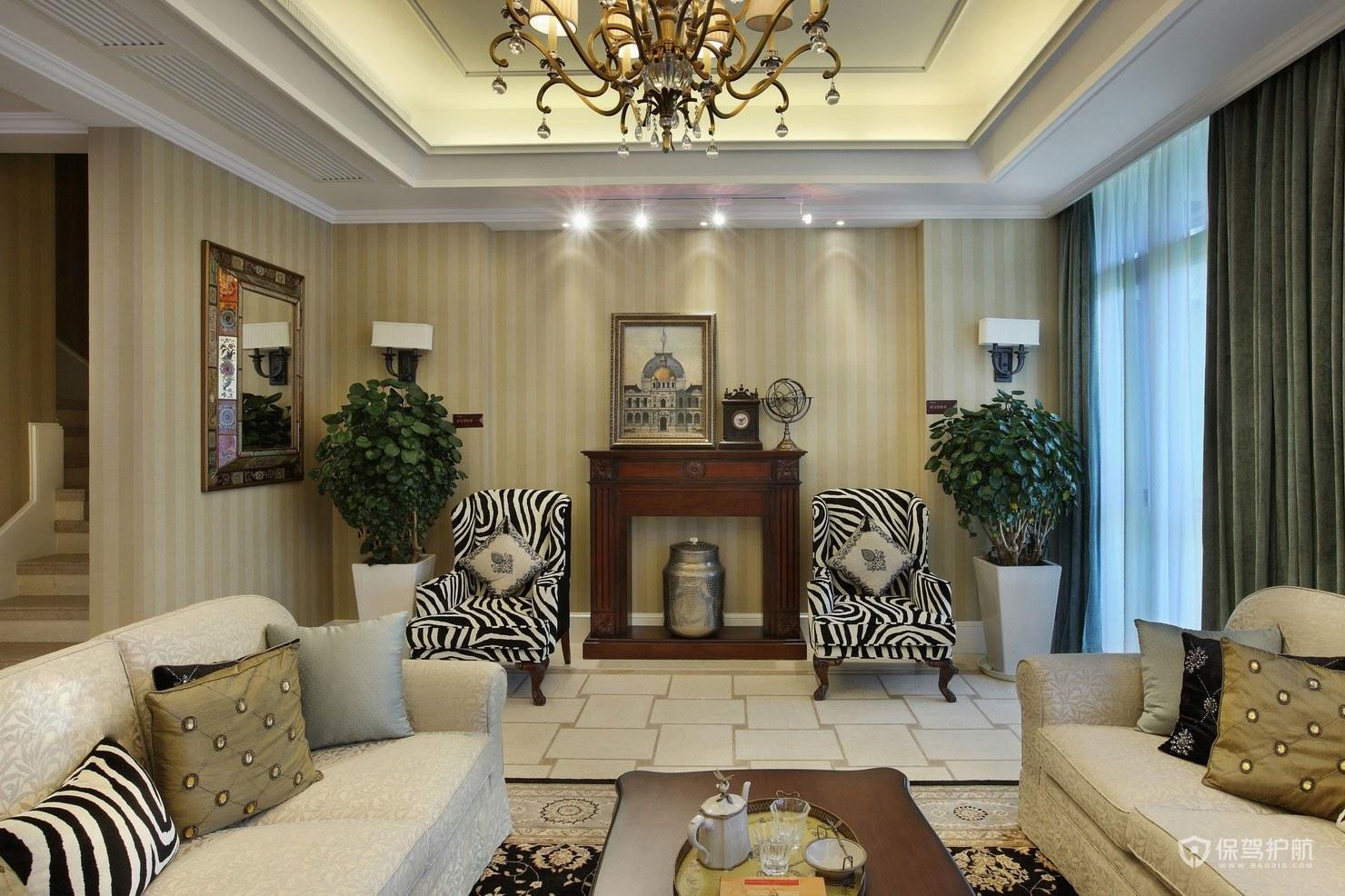 简欧风复式客厅装修效果图