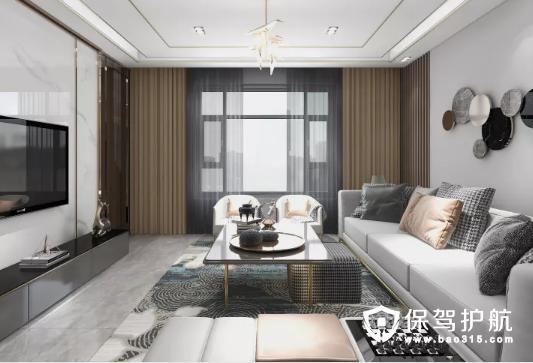 墨玉花园121㎡轻奢风格三居室装修效果图