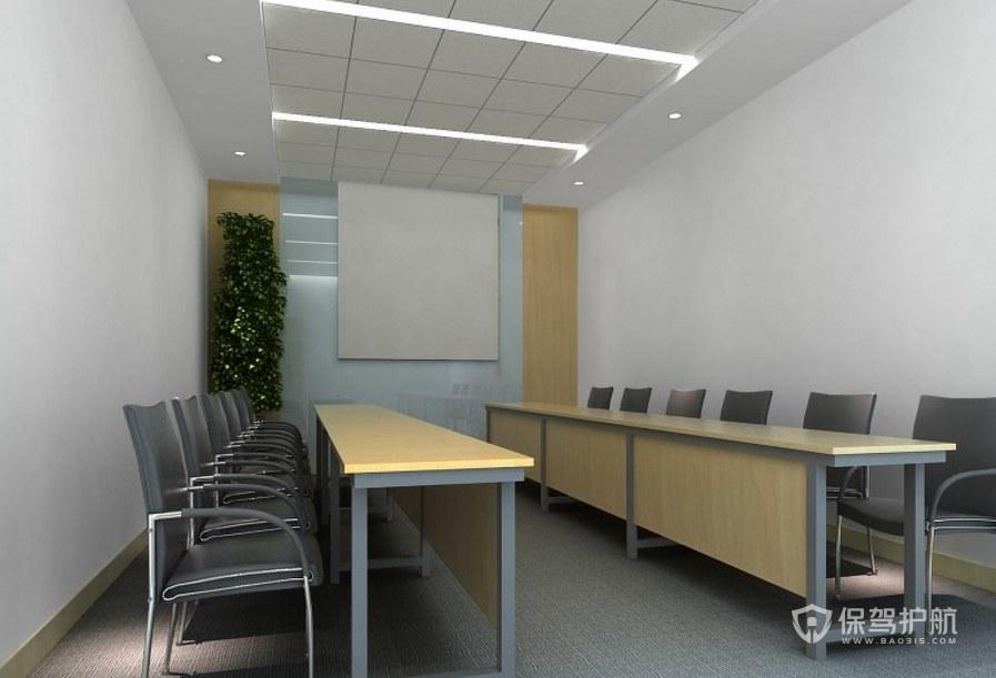 简约风格办公会议室装修效果图