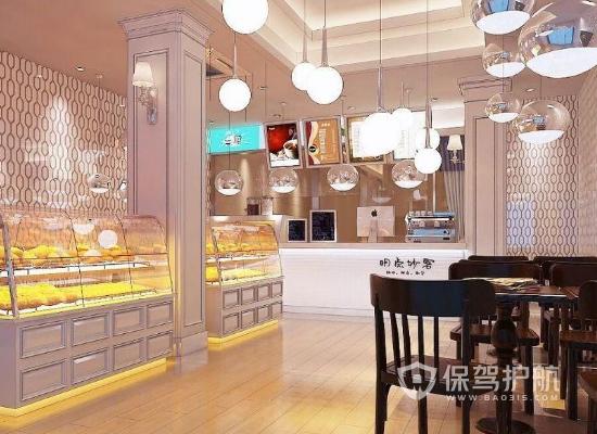 60平米简约风格甜品店装修效果图