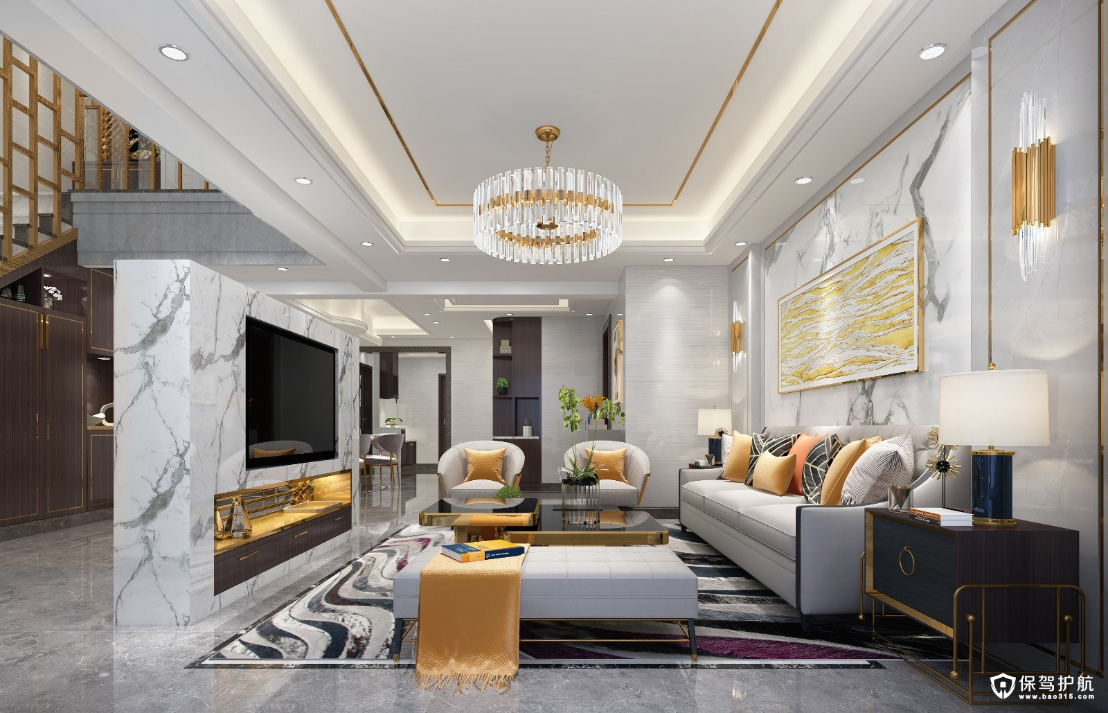 万科紫台现代风格楼中楼装修效果图