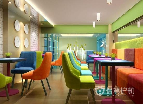 23平米现代风格甜品店装修效果图