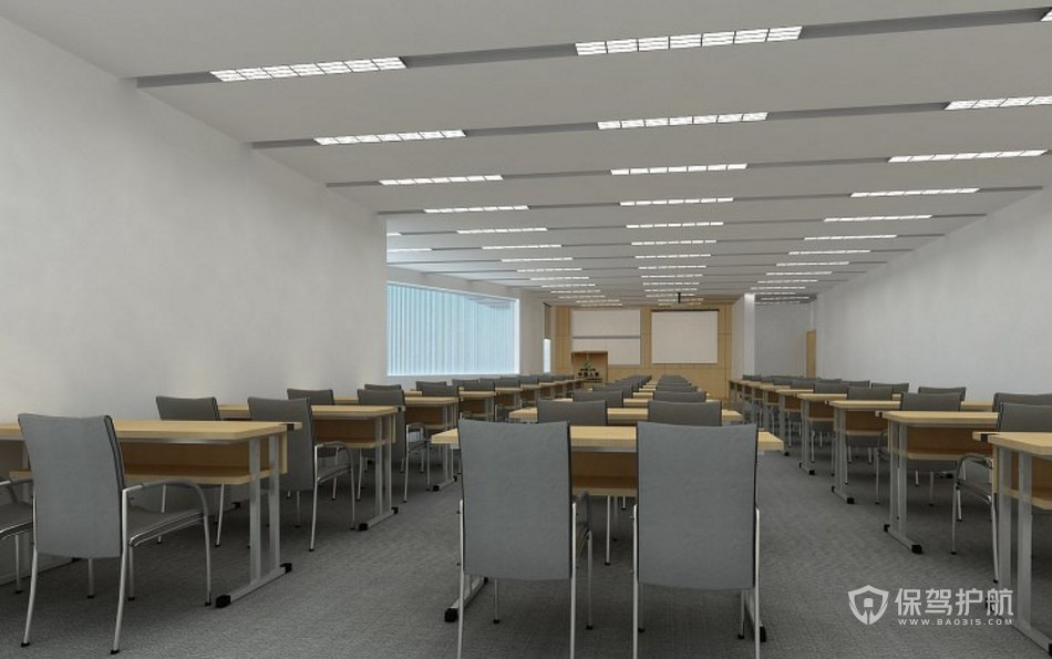 简约风格多媒体会议室装修效果图