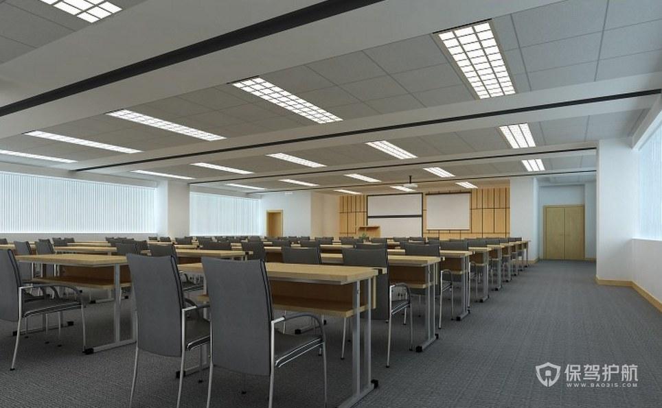 现代简约风会议大厅装修效果图