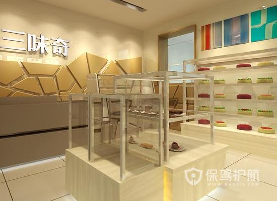 33平米现代风格甜品店装修效果图