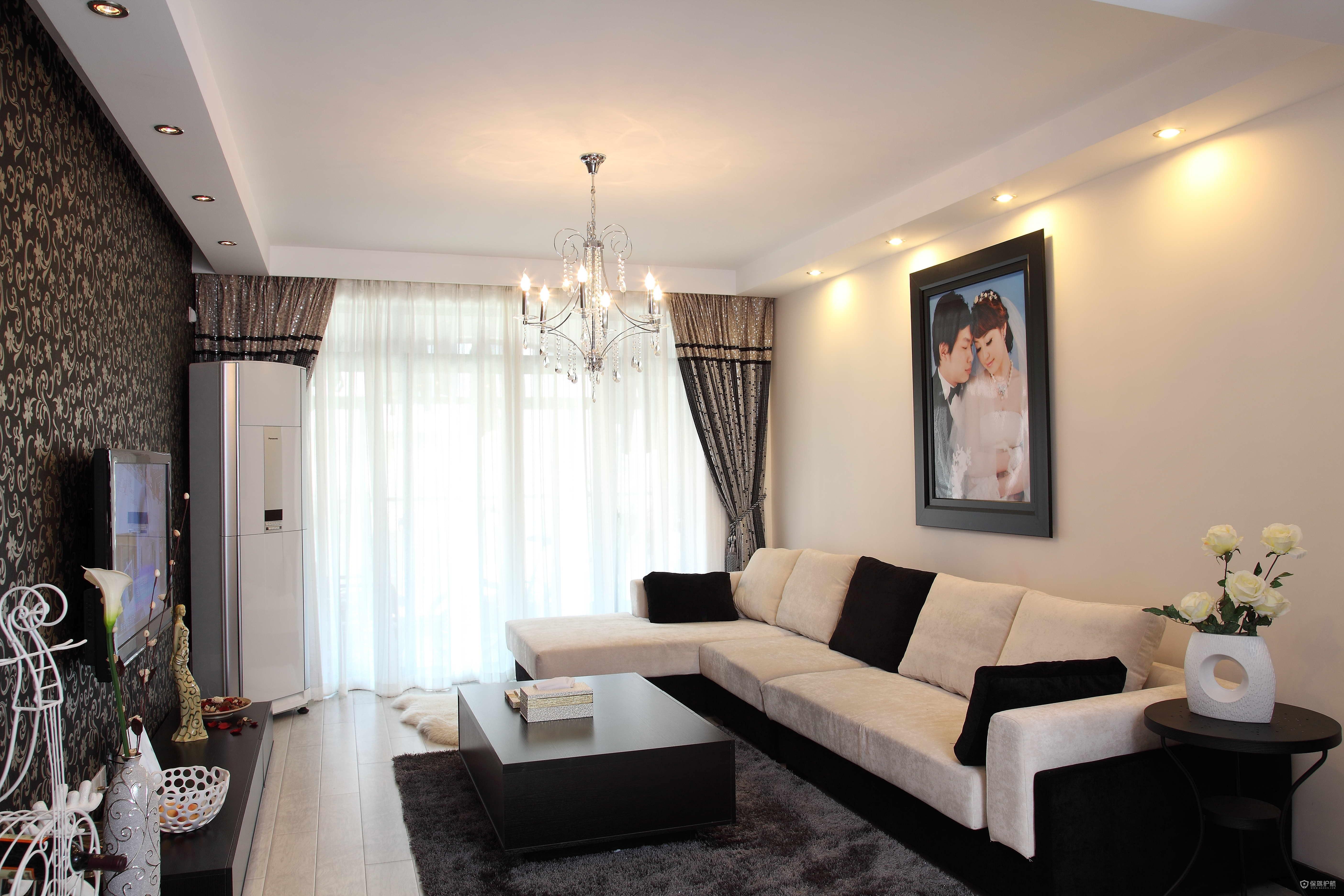 现代风格二居室客厅装修效果图