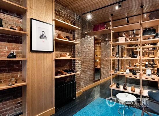 37平米简约风格鞋店装修实景图