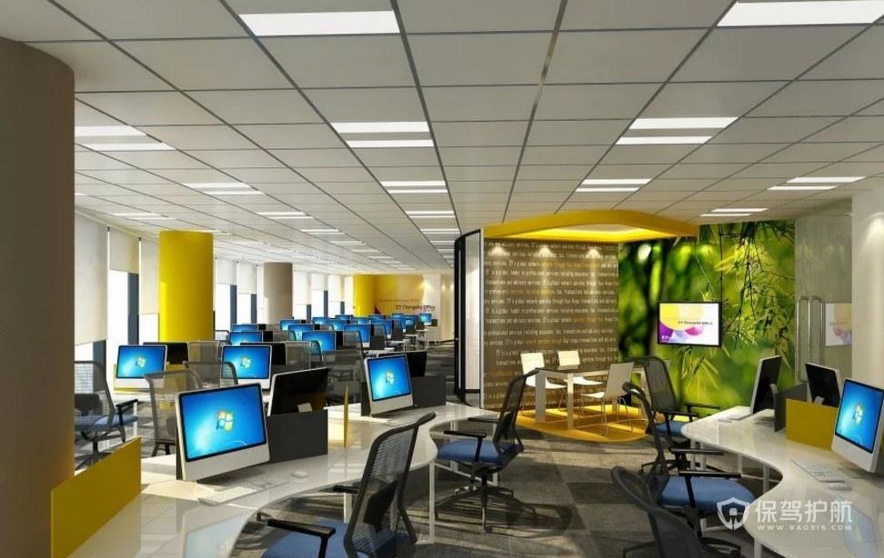 现代时尚风格公司办公区装修效果图
