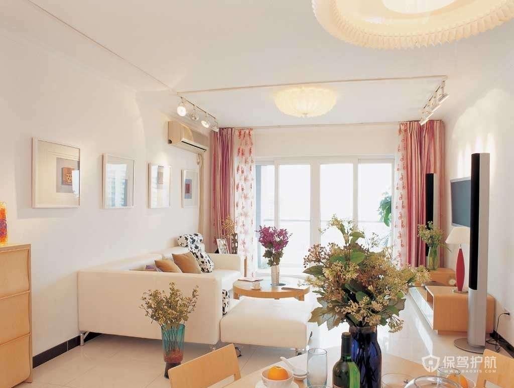 90平现代风格三居室客厅装修效果图