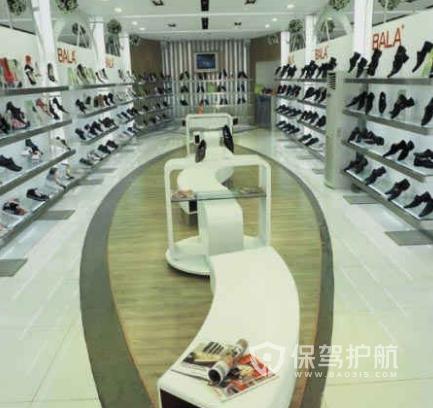 58平米现代风格鞋店装修实景图